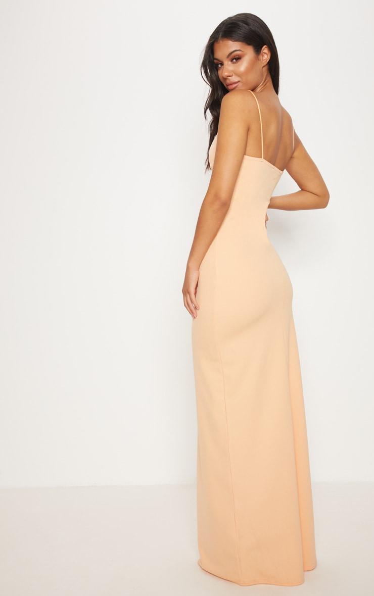 Tangerine V Bar Maxi Dress  2