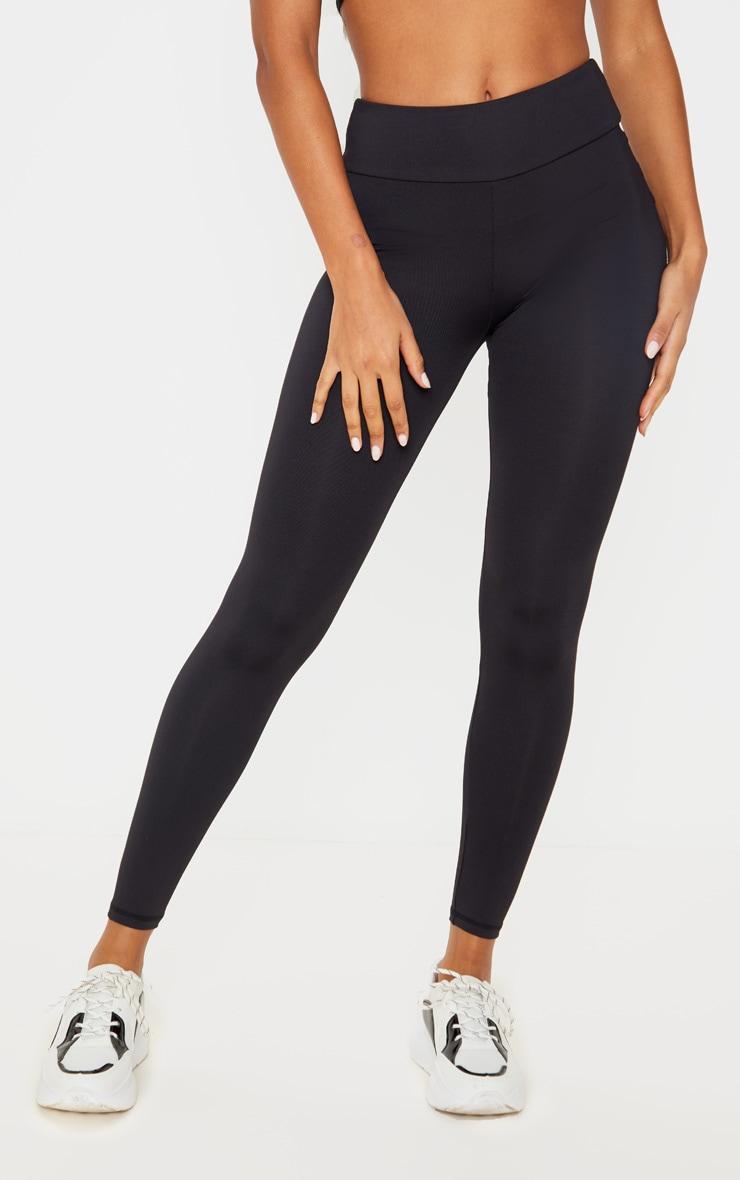 Black Ruched Pocket Bum Gym Legging 2