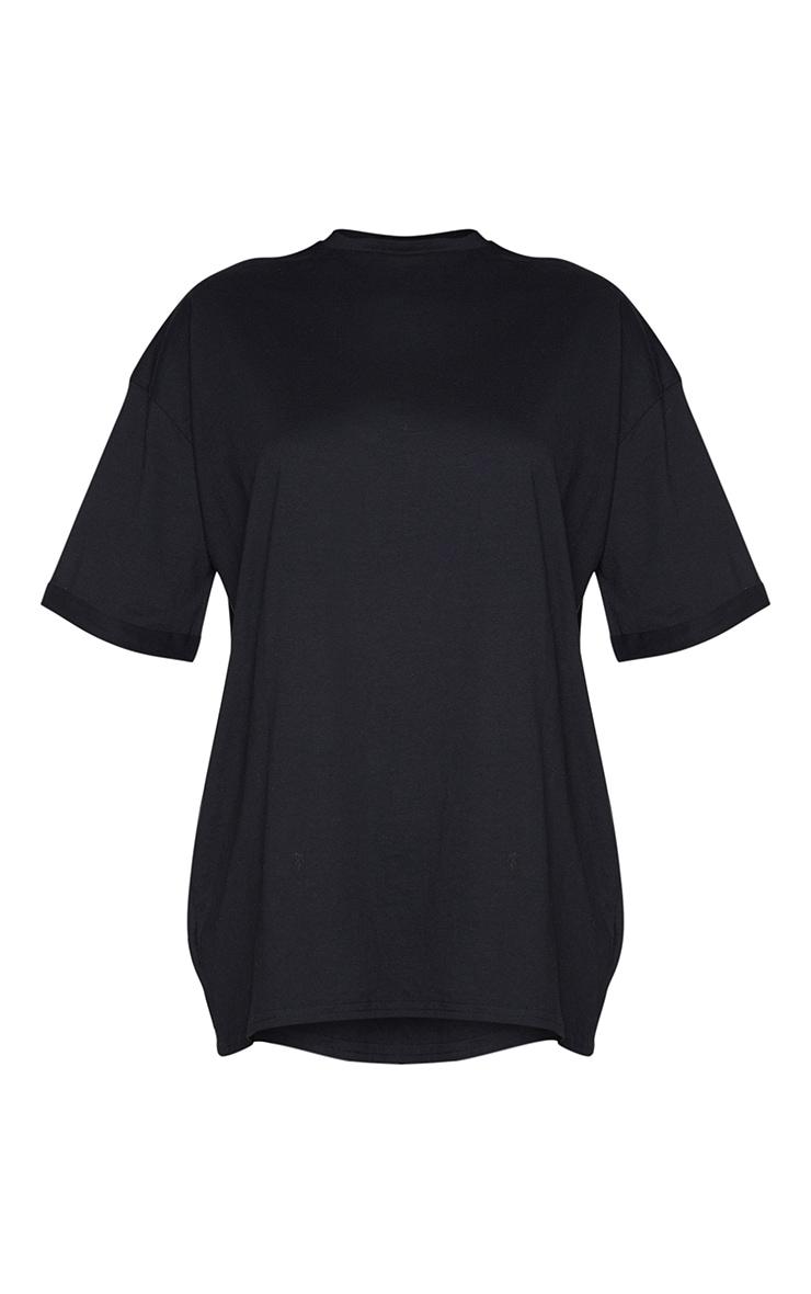 Petite Black Oversized Organic T Shirt Dress  5