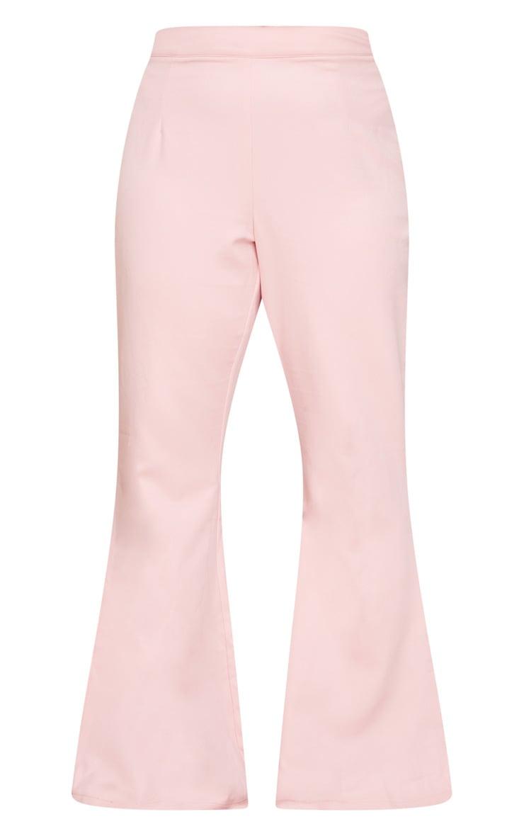 Plus Blush Split Detail Flared Pants 5