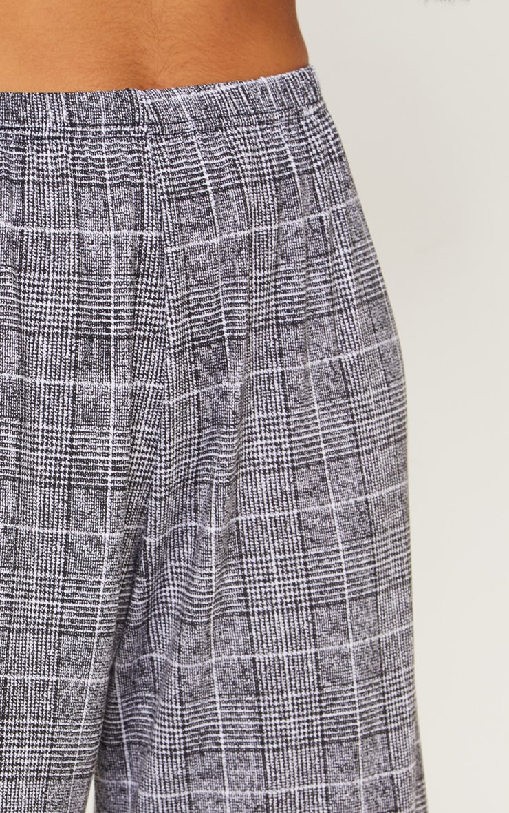 Black Check Culotte 4