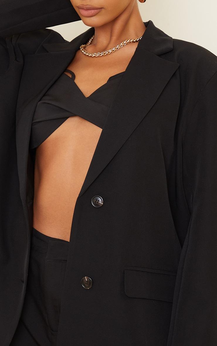 Black Extreme Shoulder Pad Oversized Blazer 4