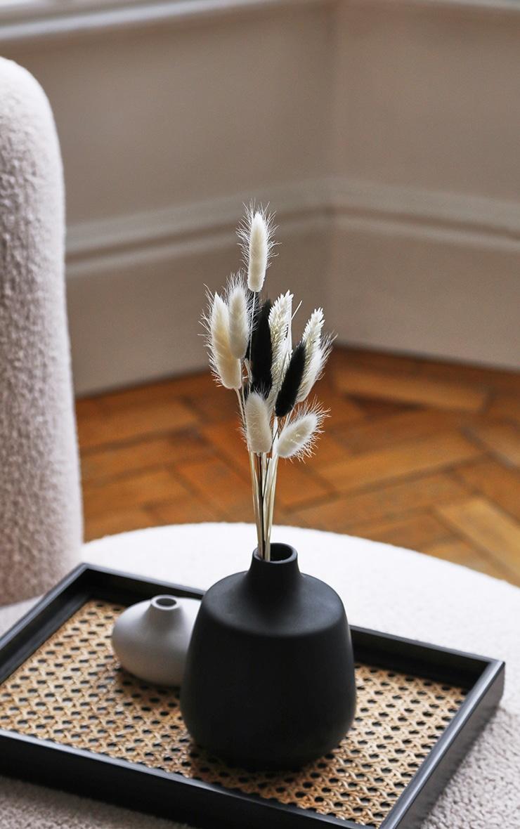 Black Rounded Small Neck Vase 2