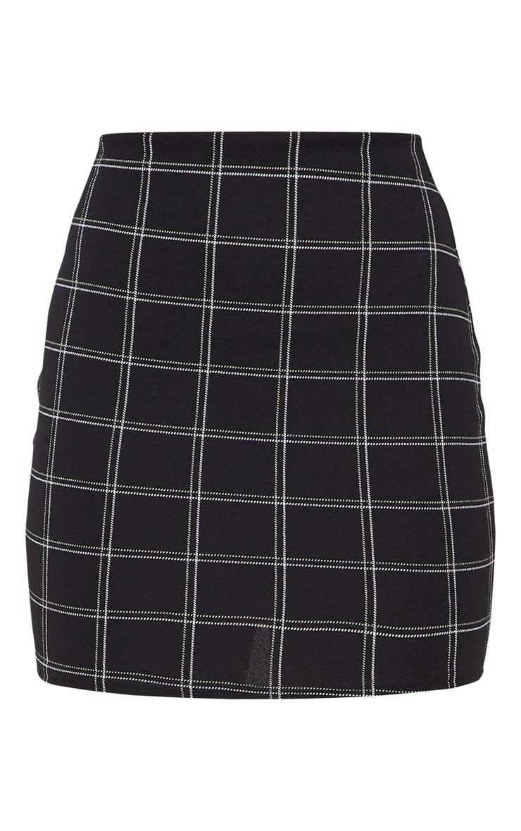 Black Checked Mini Skirt 3