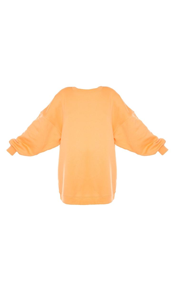 Tangerine Buffalo New York Graphic Sweatshirt Dress 5