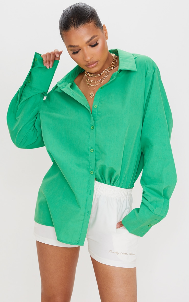Green Oversized Cuff Shirt 1