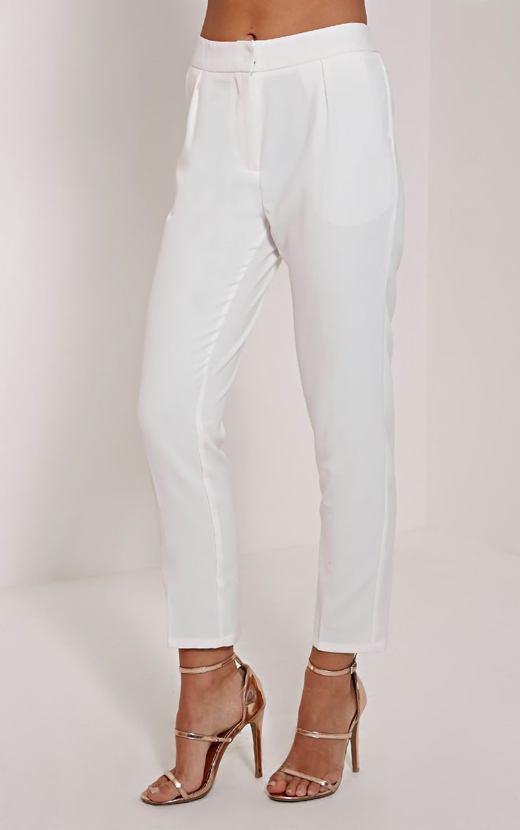 Remy Cream Cigarette Trousers 4