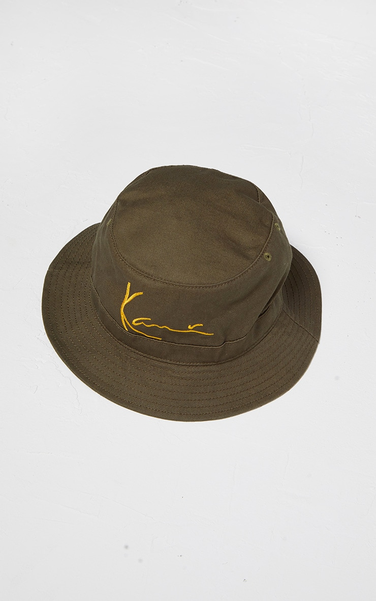 KARL KANI Khaki Embroidered Bucket 3
