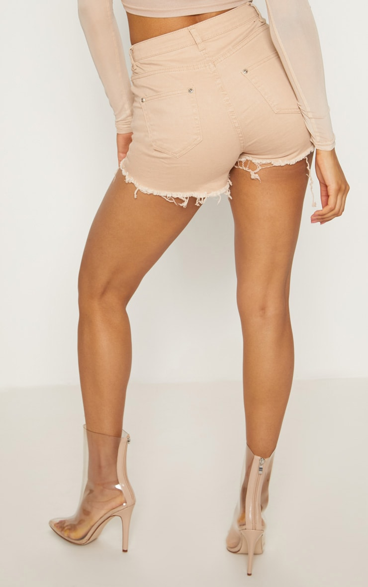Nude Jeanie Extreme Ripped Denim Short 4