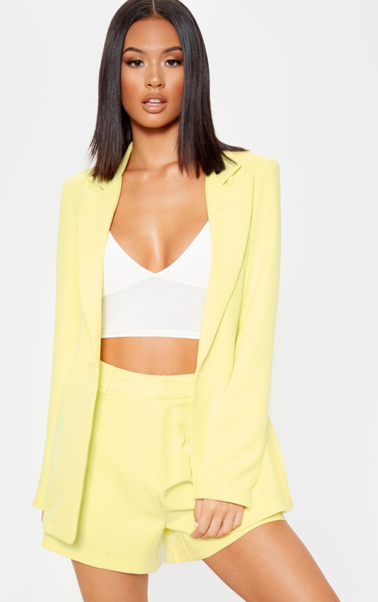 Bright Yellow Suit Short