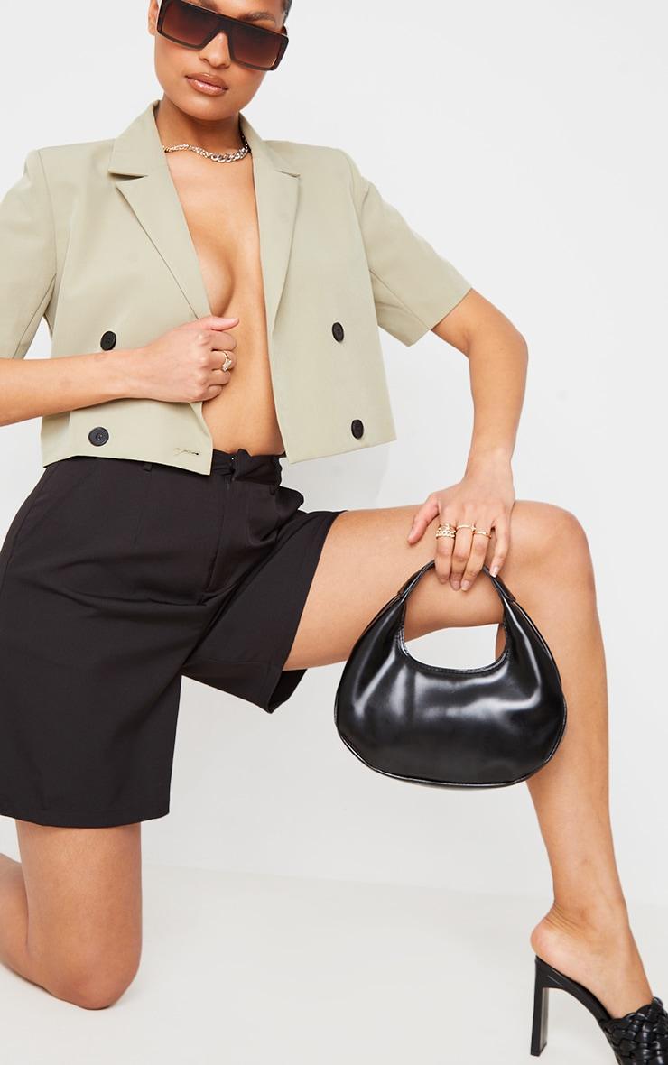 Black Mini Crescent Shoulder Bag 2