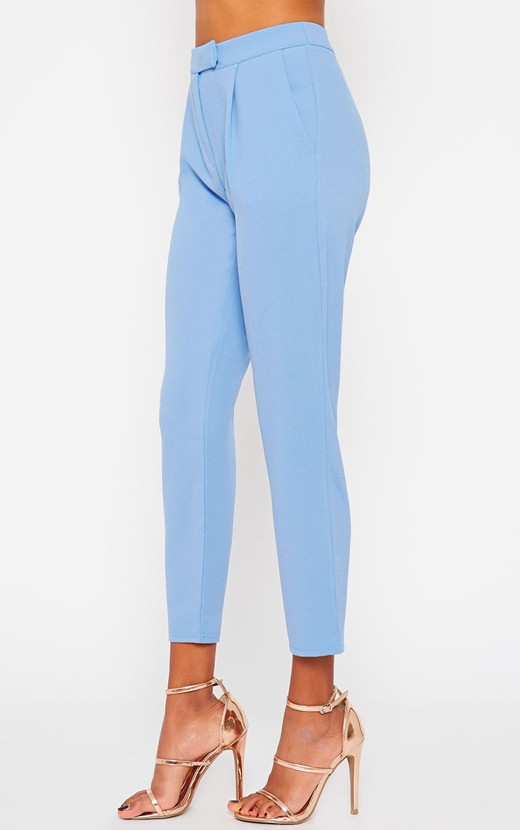 Iris Blue Cigarette Trousers 3