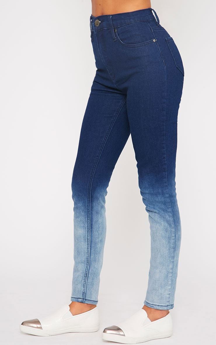 Bonnie Blue Mid Rise Ombre Skinny Jean 3