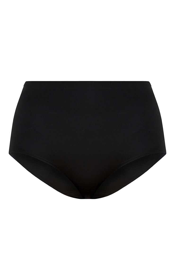 Black NO VPL Invisible High Waisted Knickers 3