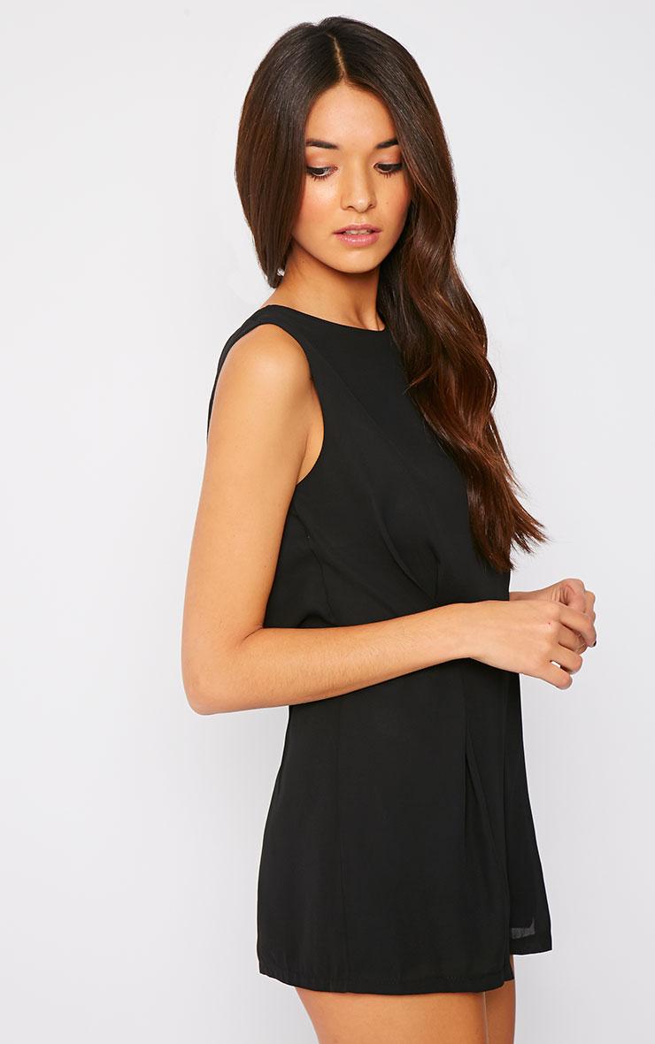 Sasha Black Lace Back Playsuit 2