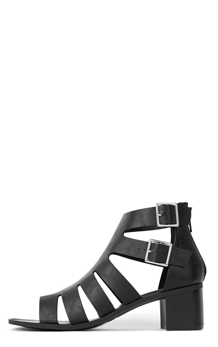 Juliana Black Block Heel Sandal  1