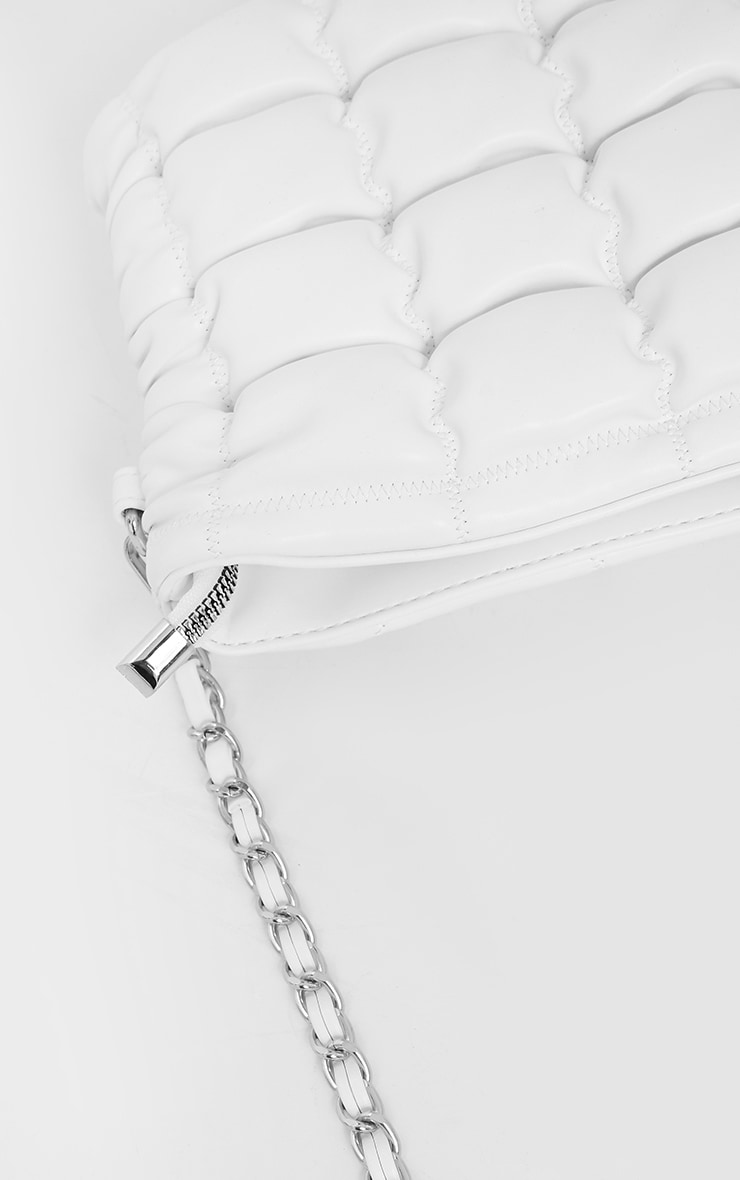 White Quilted Cross Body Bag 3