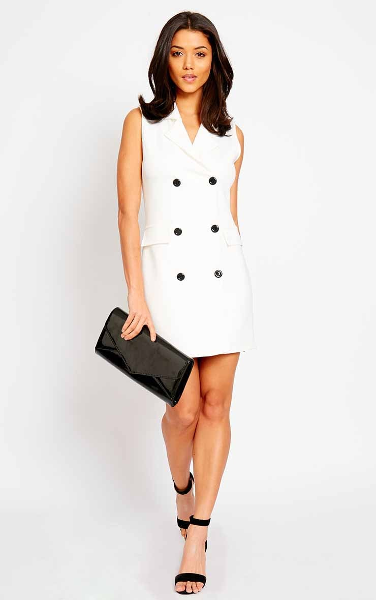 Thea Cream Blazer Dress 3