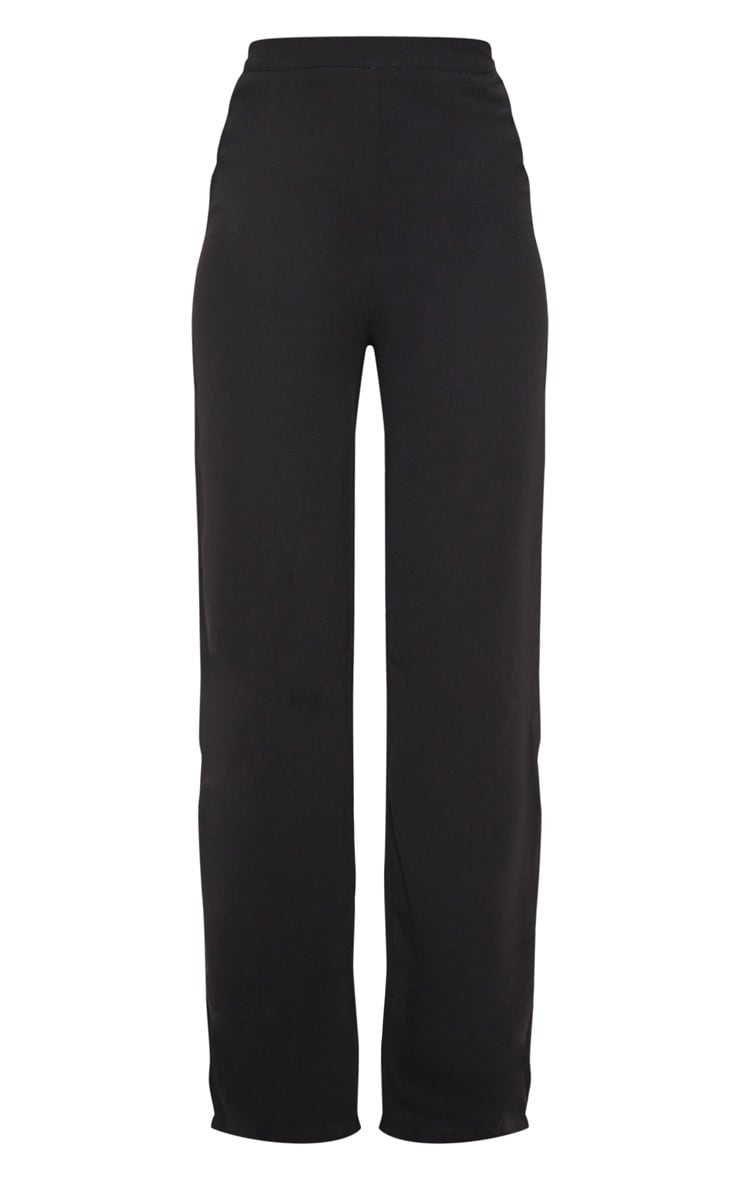Black Wide Leg High Waisted Trousers 3