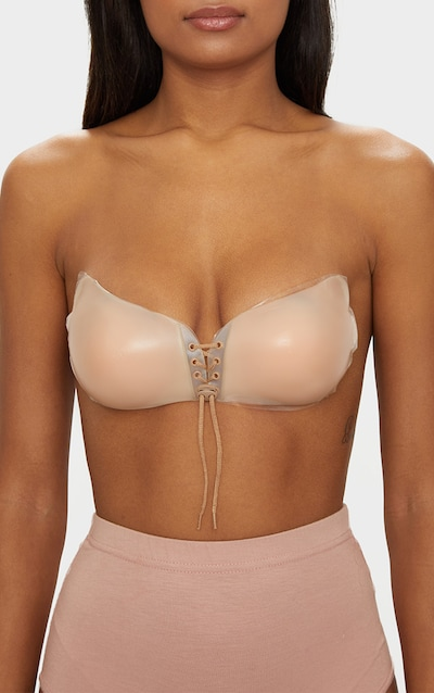 PRETTYLITTLETHING Nude Silicone Push Up Stick On Bra