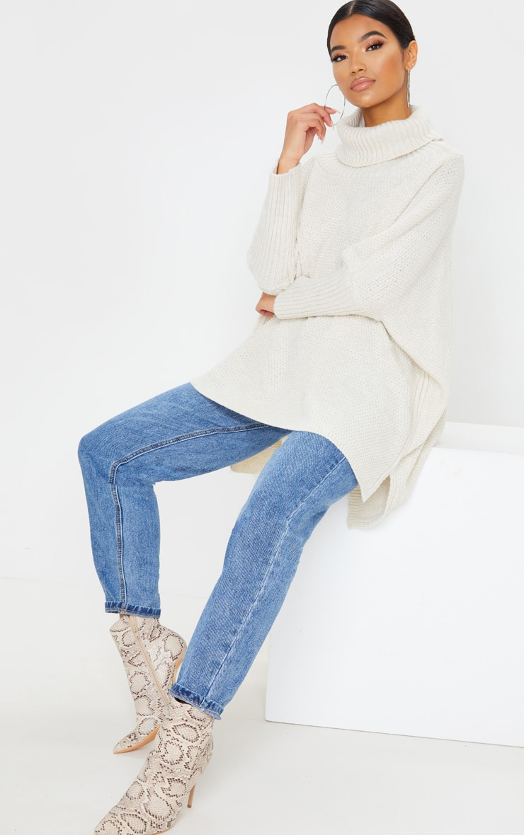 Oatmeal Oversized Slouchy Knitted Sweater 4