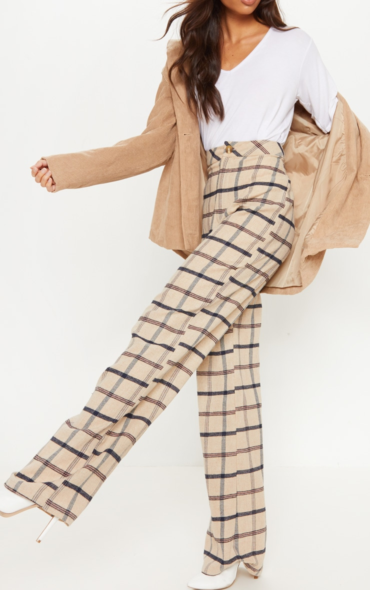 Stone Check Wide Leg Pants 5