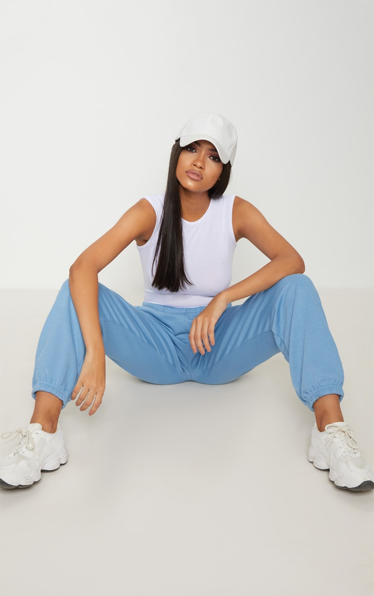 Basic White Round Neck Thong Bodysuit 5