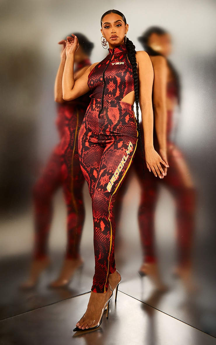 Red Snake Brooklyn High Neck Jumpsuit 5