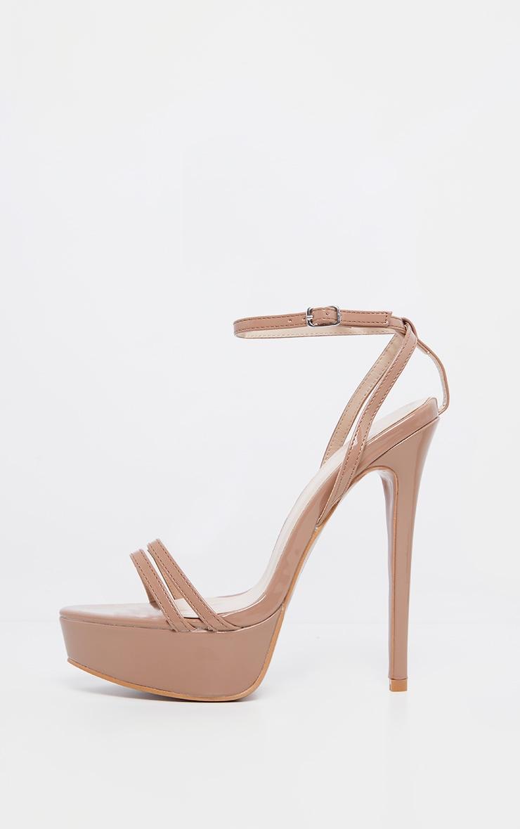 Nude High Platform Sandals 4
