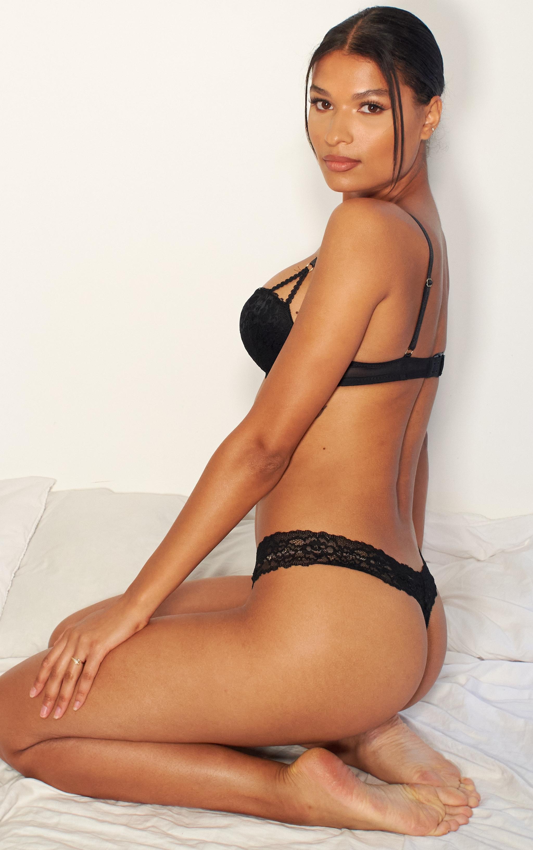Black Ann Summers Sexy Lace Boost Bra 3