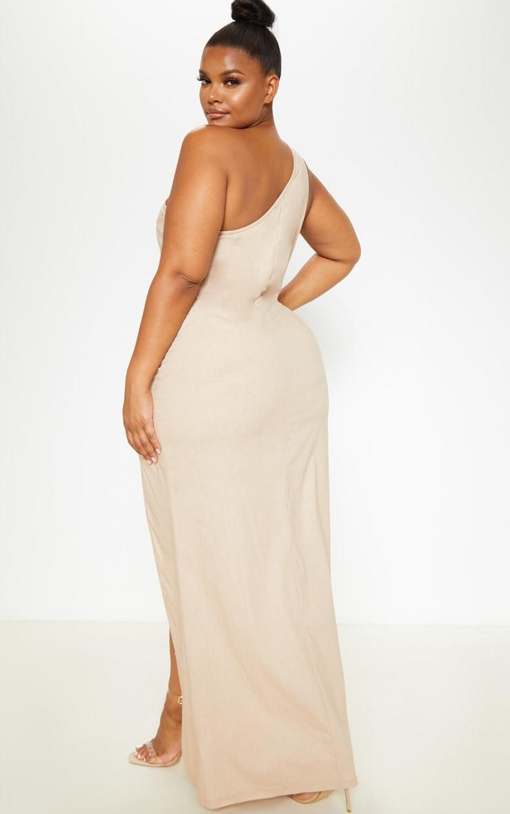 Plus Stone Woven Asymmetric Maxi Dress  2