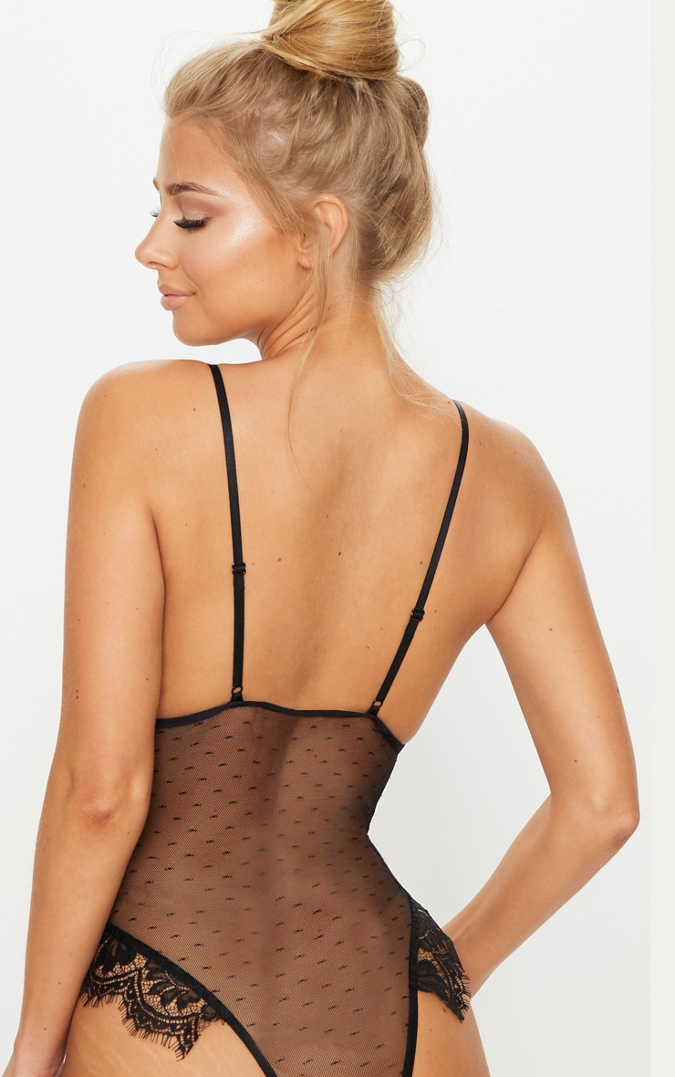 Black Lace Cup Dobby Mesh Body 2
