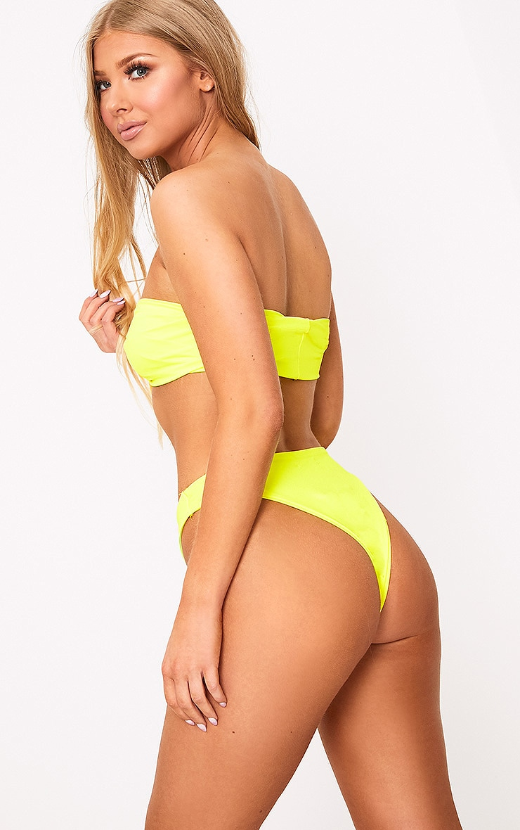 Yellow Bow Top Bikini Set 2