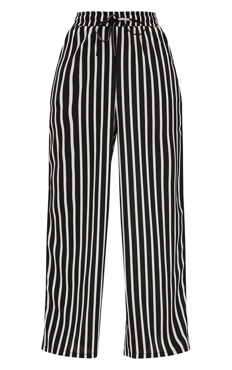 Monochrome Stripe Wide Leg Trousers 3