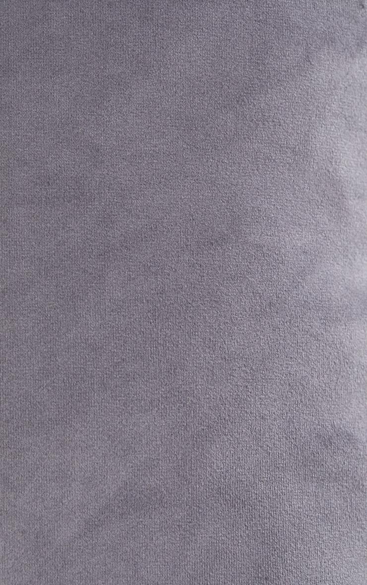 Grey Large Velvet Filled Cushion 5