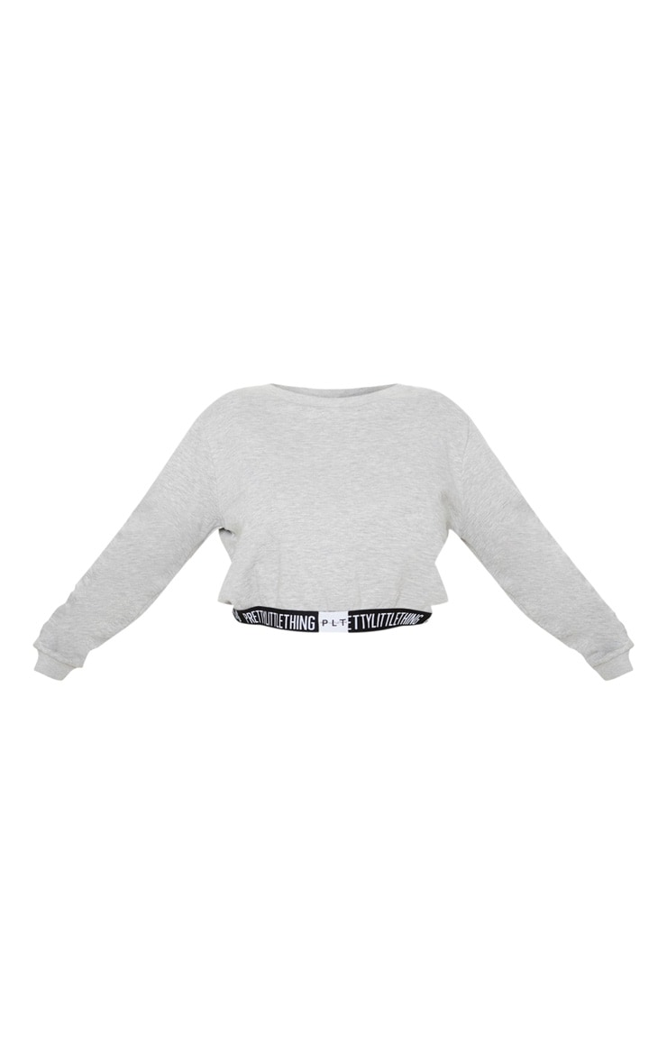PRETTYLITTLETHING Plus Grey Lounge Sweater 3