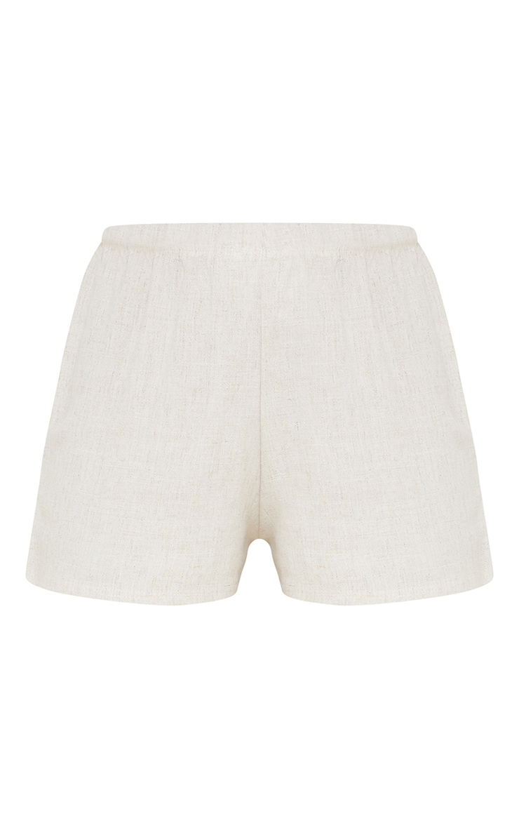 Stone Linen Floaty Shorts 6