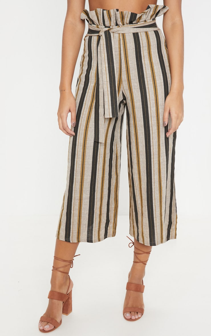 Black Printed Tie Waist Woven Culotte 2