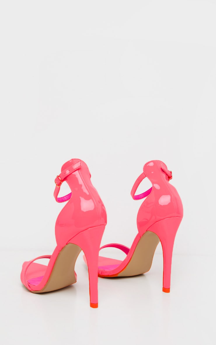 Pink Neon Point Toe Strappy Sandal  4