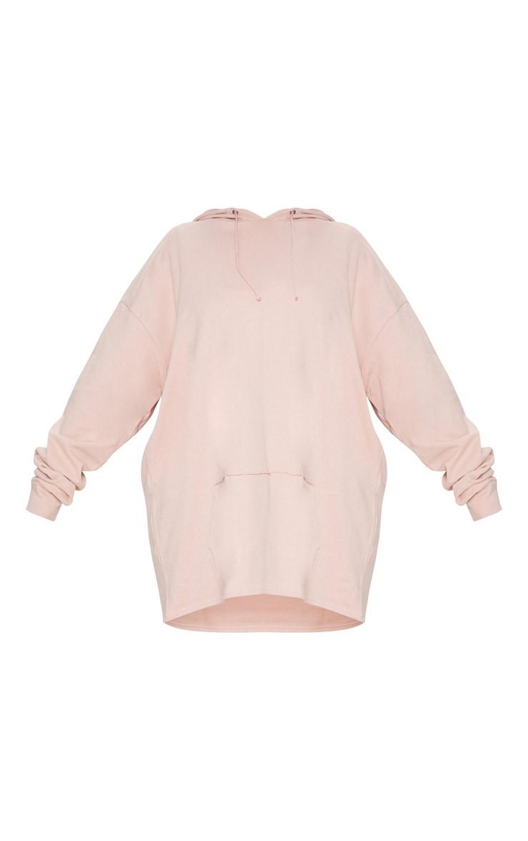 Plus Dusty Pink Oversized Hoodie 3