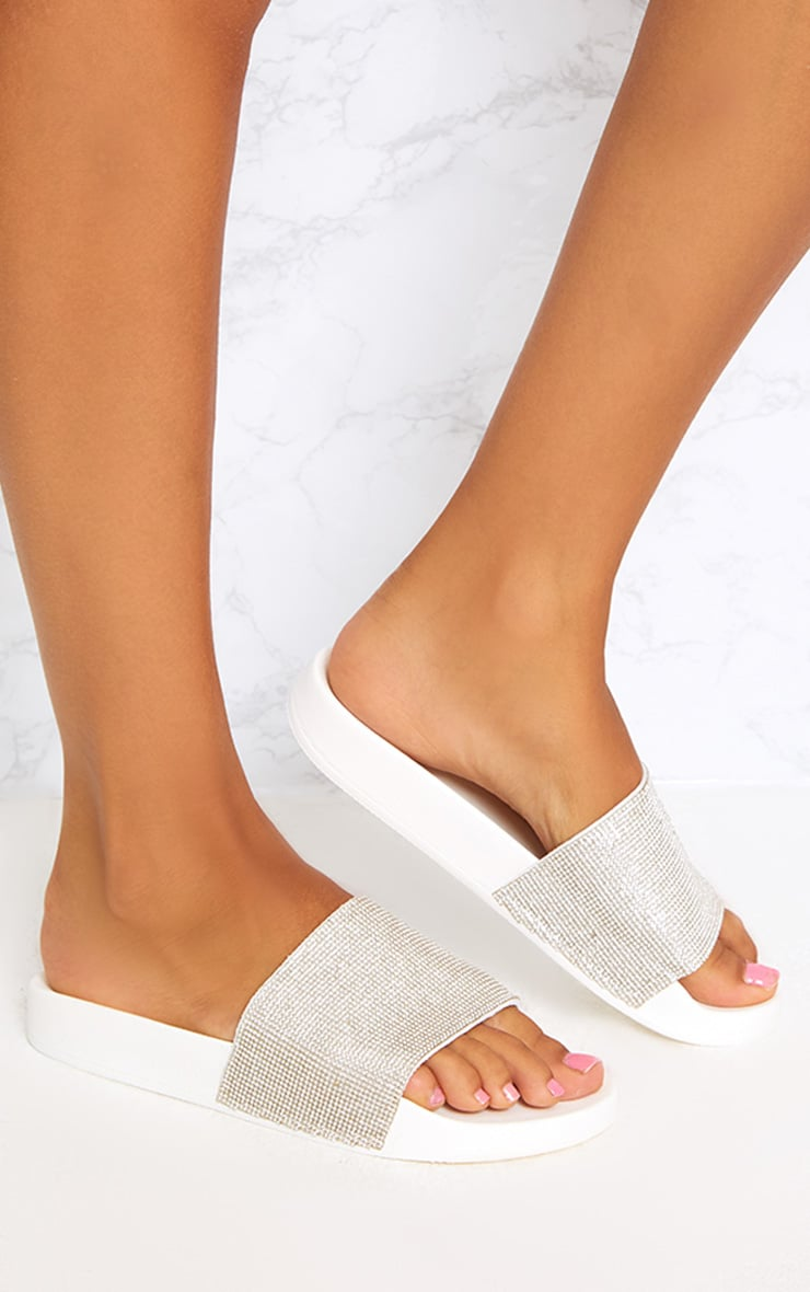 White Diamante Sliders 1