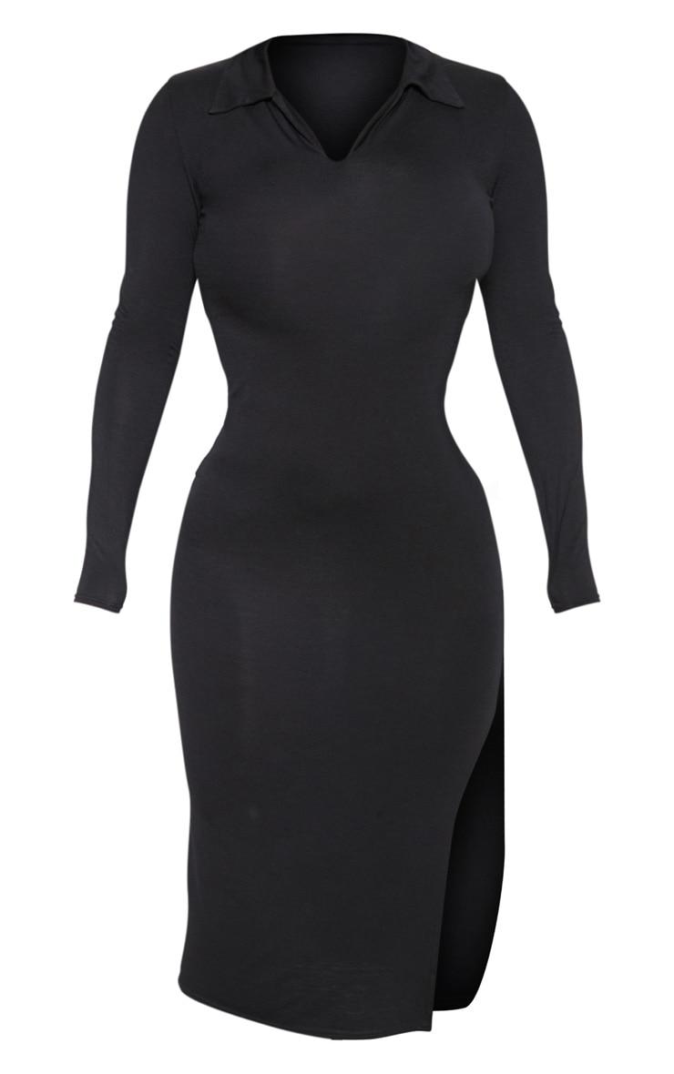 Black Polo Midi Dress 3