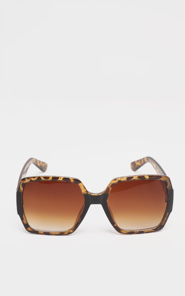 Tortoiseshell Square Oversized Sunglasses 2