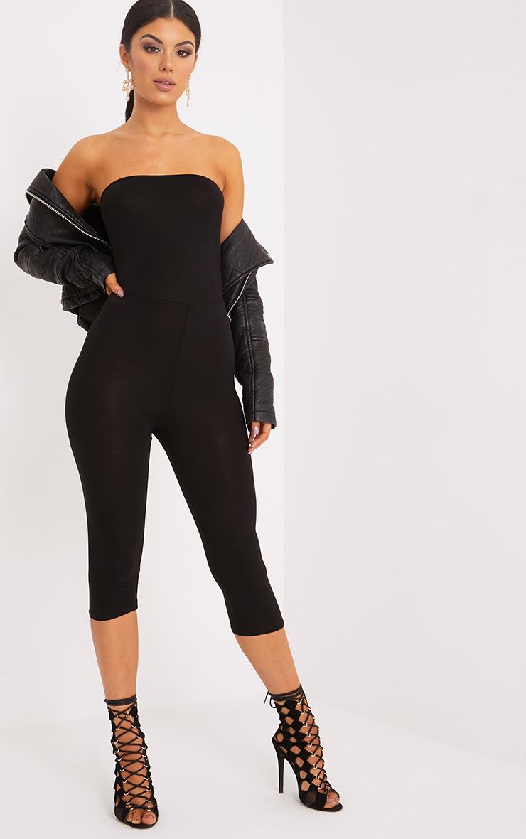 Kelli Black Bandeau Cropped Jumpsuit 1
