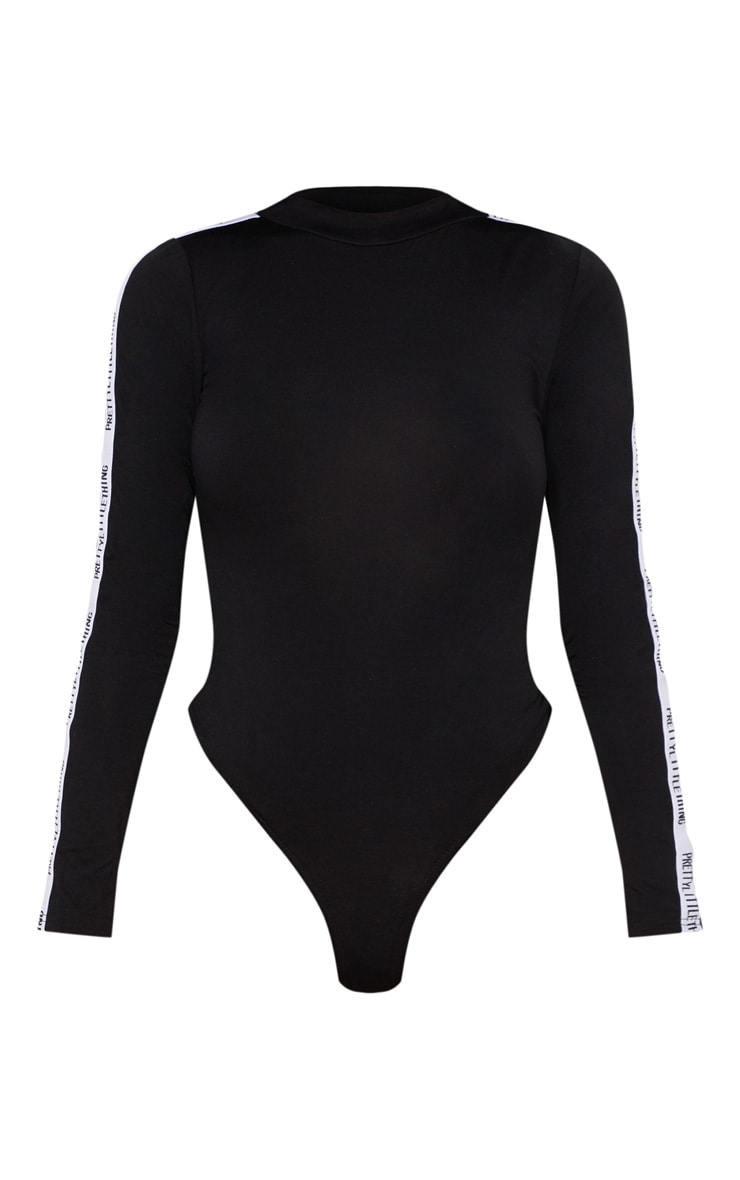 PRETTYLITTLETHING Black Long Sleeve Bodysuit 3