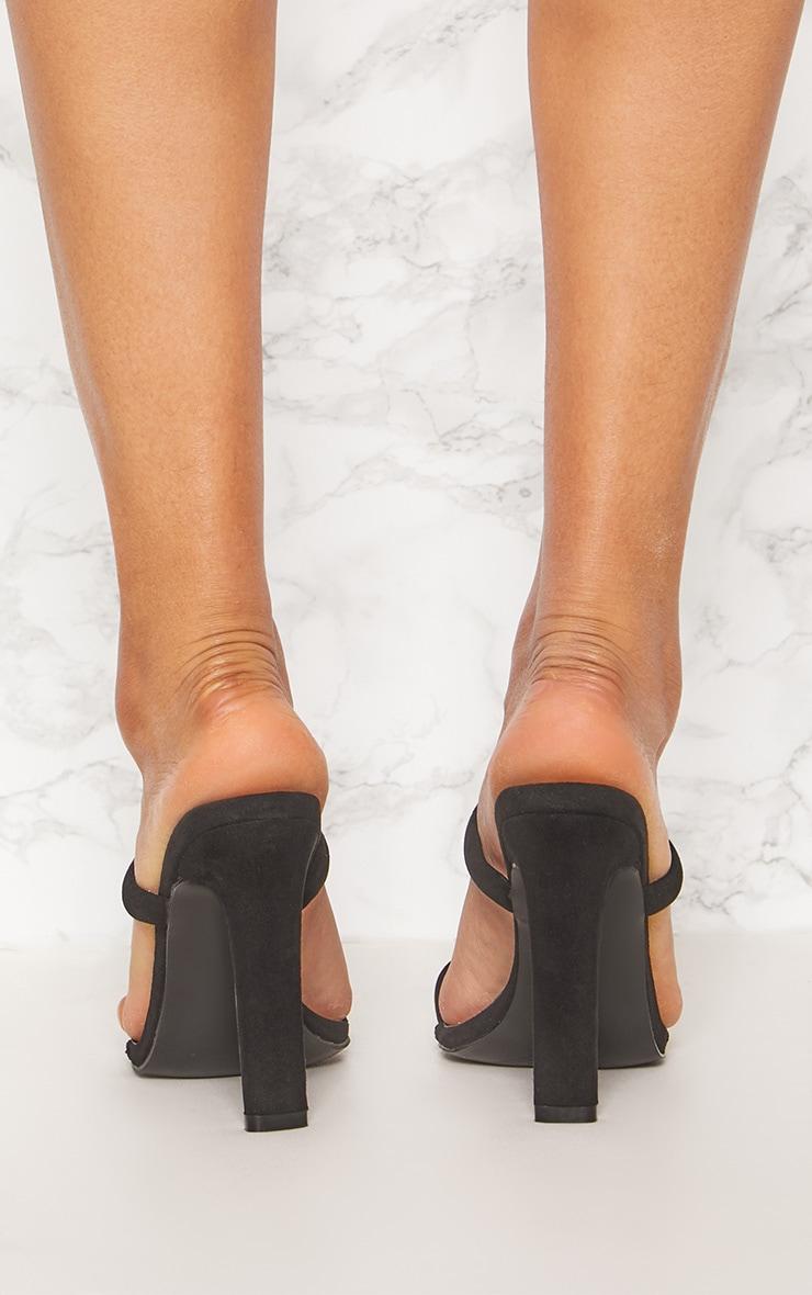 Black Toe Loop Flat Heel Mule  3
