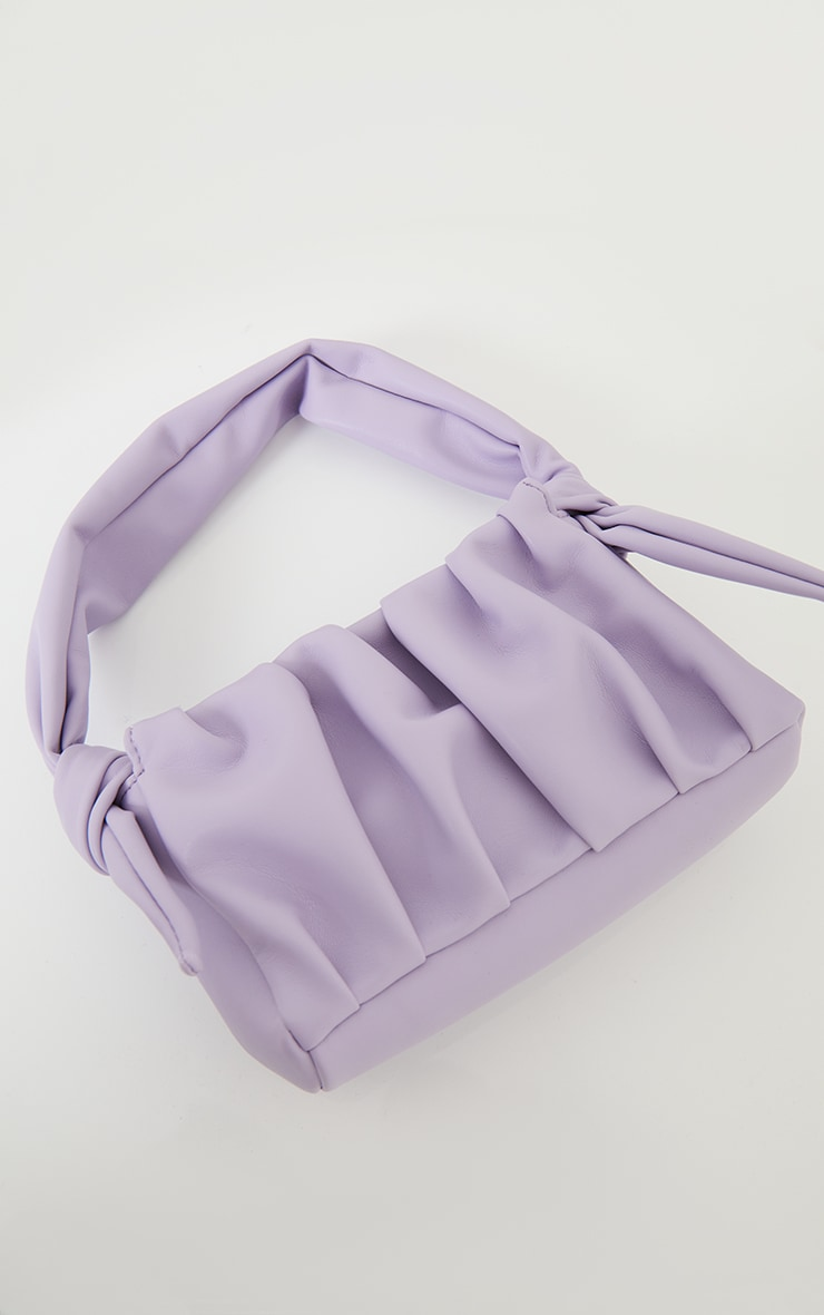 Lilac Pleated Front Shoulder Bag 2