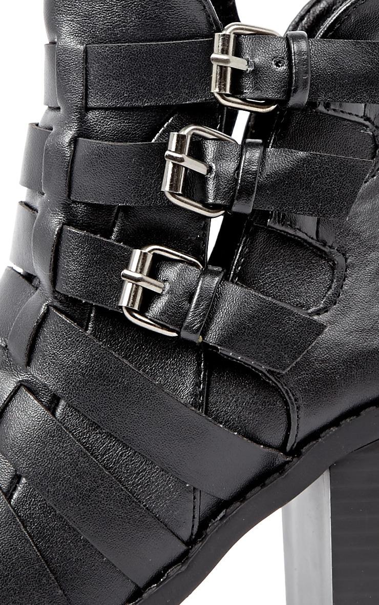 Margie Black Weave Boots 4