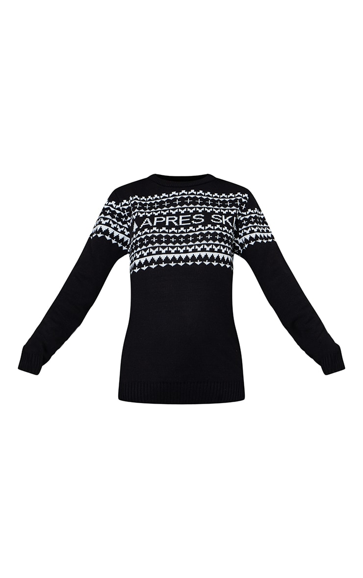 Black Apres Ski Christmas Jumper 5
