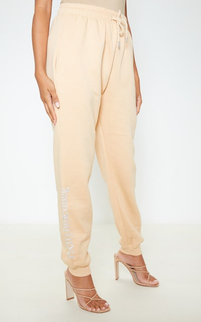 PRETTYLITTLETHING Fawn Embroidered Joggers